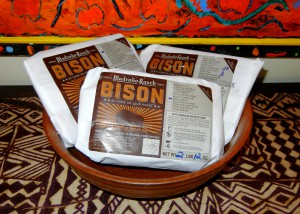 Bison meat from Madroño Ranch
