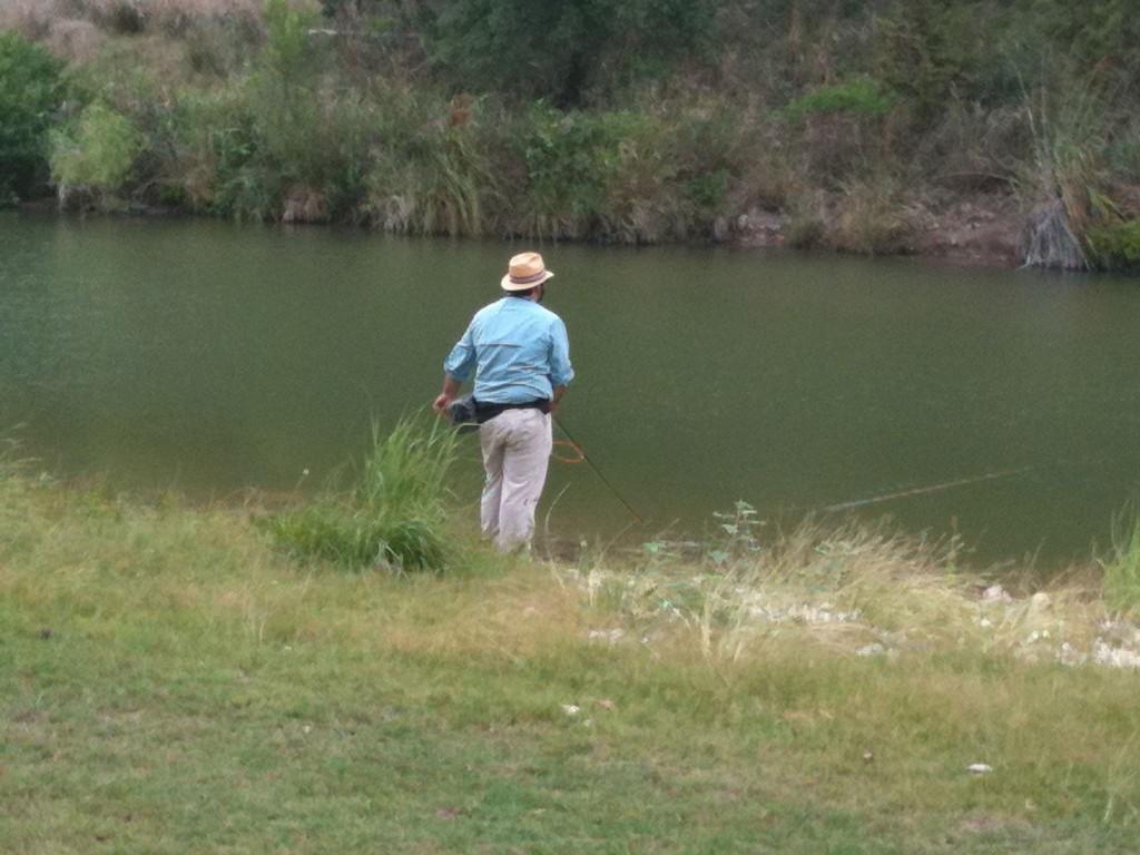 Fly-fishing in Wallace Creek