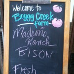 Madroño Ranch bison meat, now available at Austin's Boggy Creek Farm