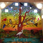 Billy Hassell's Tree of Life mural in the Main House