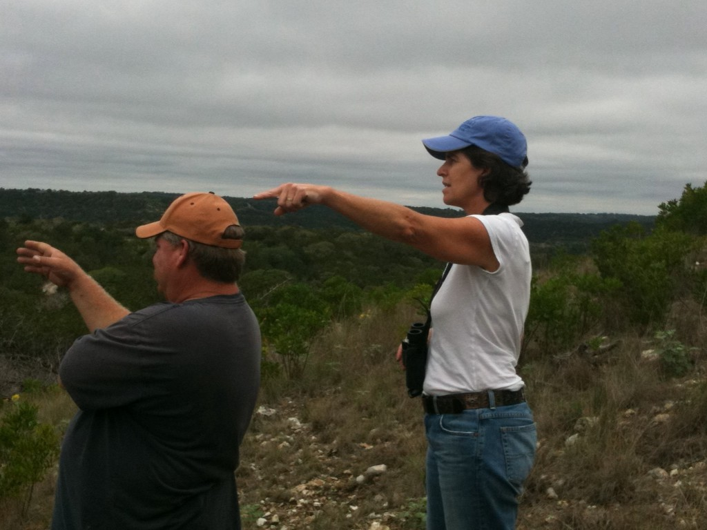 Manager Robert Selement and co-proprietor Heather Catto Kohout survey the ranch