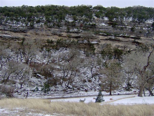 snowy cliffs