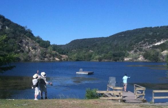 Fly-fishing at Madroño Ranch