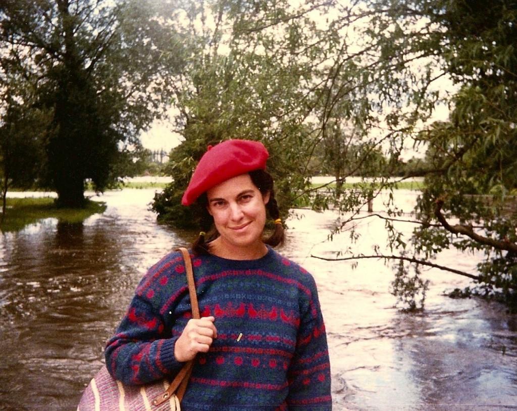 Heather on honeymoon, 1985